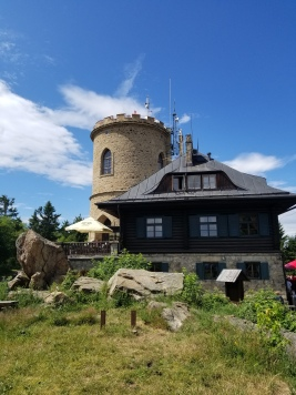 Lookout tower and Restaurant at the top of Mount Klet