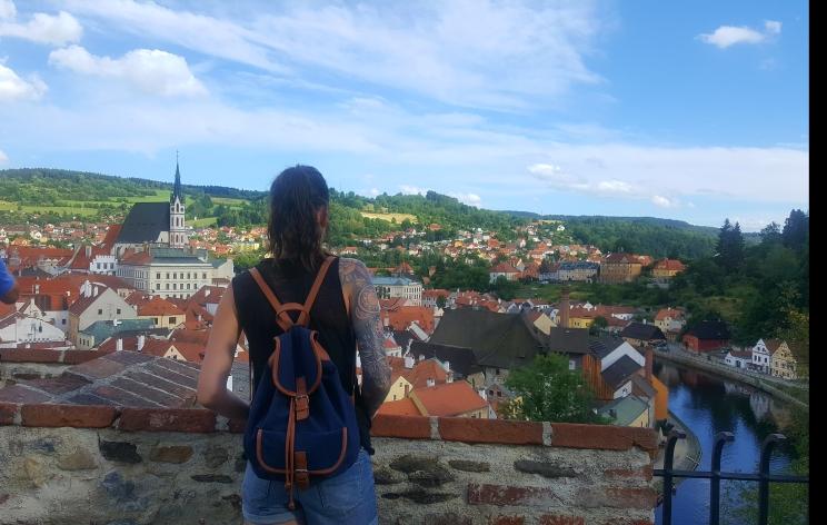 Overlooking Krumlov from the Castle