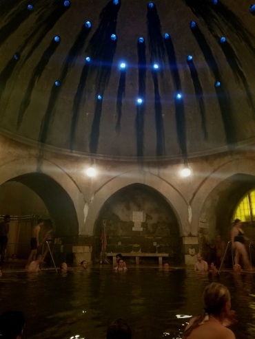 Kiraly Bath house. Kiraly, meaning King, was the first thermal bath house built in the 1500s by the Turks
