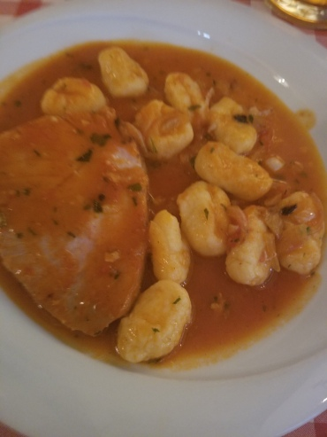 Tuna brodetto with gnocchi