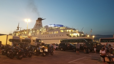 Our ferry to Italy, the Marko Polo
