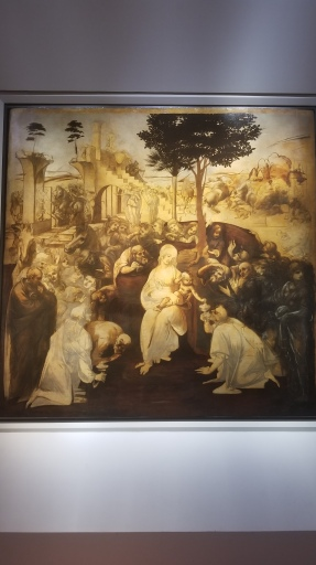 da Vinci's unfinished Adoration of the Magi
