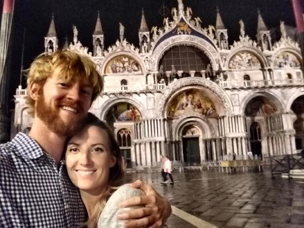 In front of St. Mark's Basilica